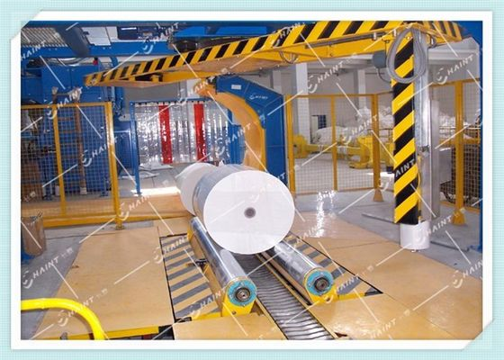 Paper Mill Roll Stretch Wrapping Machine , Stretch Wrap Systems Custom Model